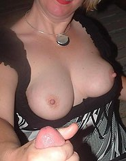 milf handjob cum on breast