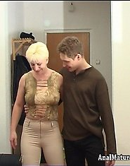 Blonde milf got a dick up her rear hole