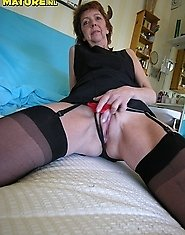 Horny mama getting naughty and wet