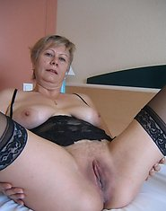Heated mature chick in sheer pantyhose getting her ripe snatch drilled hard