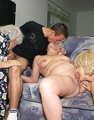 Three mature sluts and one pussyhungry cock