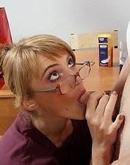 Slutty milf in barely black tights giving policeman new fucking sensation