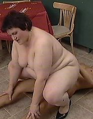 Fat granny rides cock and gets a perfect facial