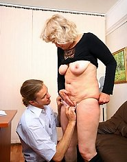 Hot mature policewoman in sheer-to-waist tights getting banged from behind
