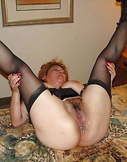 Blonde grandma rides her younger lover's dick
