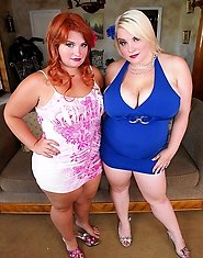 Scarlett Rouge and Tiffany Star had just gotten home and were looking at the sexy clothes they had just gotten when they heard a noise from the back d