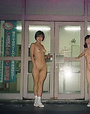 Japanese teens naked in the city