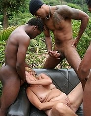 This is one hot interracial mature gang bang