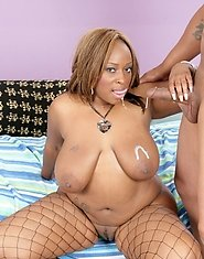 Skyy is stripped down exposing that voluptuous body of hers for a sexual workout