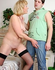 Filthy blonde mom making a younger guy drunk and ready to go up the brown